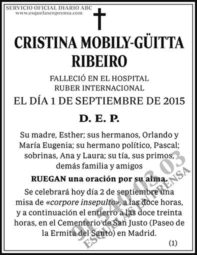 Cristina Mobily-Güitta Ribeiro